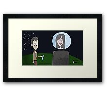 Space Jimmy Significant Mother music video - Moon scene Framed Print