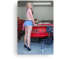 Amber and a Mustang Canvas Print
