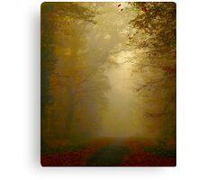 autumn fog Canvas Print
