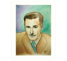 Portrait of Errol Flynn Art Print