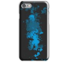 Paint Splatter Black Blue iPhone Case/Skin