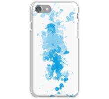 Paint Splatter White Blue iPhone Case/Skin