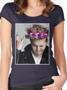 G-Dragon Flower Crown Women's Fitted Scoop T-Shirt