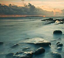 Osmington Mills Sunset.  by Daniel  Bristow