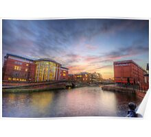 Nottingham Canal Sunset Poster