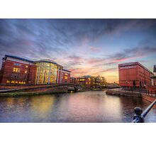 Nottingham Canal Sunset Photographic Print