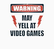 Gamer Warning 2.0 Womens Fitted T-Shirt
