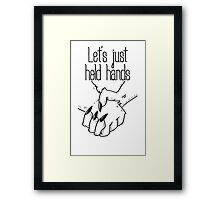 hold hands (asexual pride) Framed Print