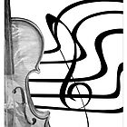 Violin, Stave and Treble Clef by Charlotte Utton