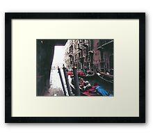 PARKING GONDOLAS EL BAUER- VENICE -ITALY- EUROPA- 2000 VISUALIZz. 2013  -  VETRINA RB EXPLORE 27 NOVEMBRE 2011 -       - Framed Print