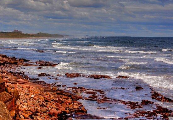 Sea View - Bamburgh by Trevor Kersley