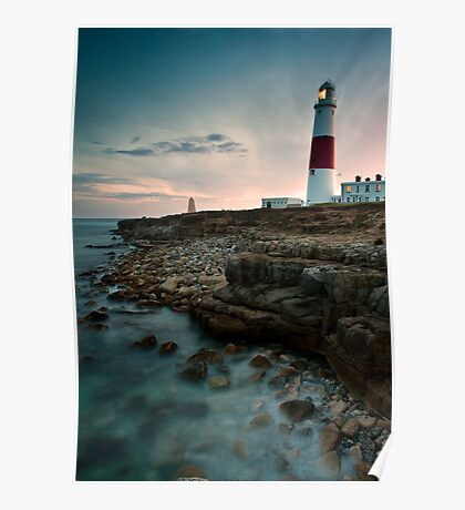 Portland Lighthouse Sunset.  Poster