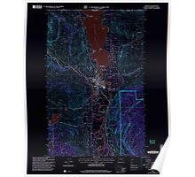 USGS Topo Map Washington State WA Oroville 243003 2001 24000 Inverted Poster