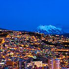 Panorama of La Paz of night, Bolivia by javarman