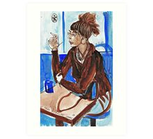 Smoking Lady (literally smoking!) Art Print