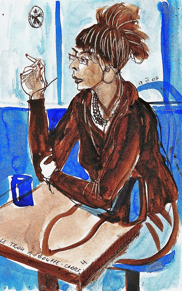 Smoking Lady (literally smoking!) by ivDAnu