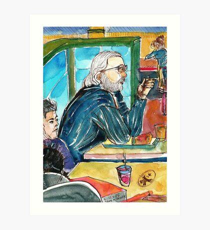 The Salt & Pepper Man Art Print