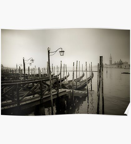 Gondolas at Grand Canal, Venice, Italy Poster