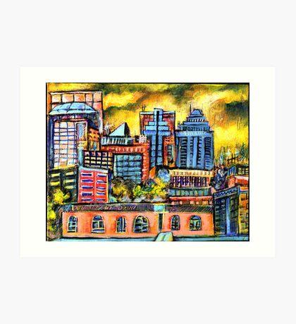 Montreal roofs Art Print