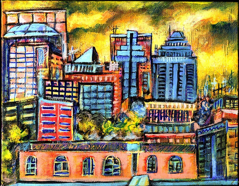 Montreal roofs by ivDAnu