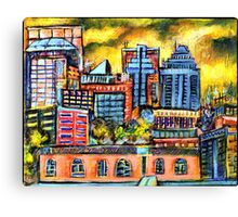 Montreal roofs Canvas Print