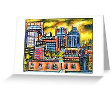 Montreal roofs Greeting Card