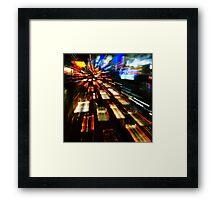 Traffic lights in motion blur Framed Print