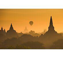 Sunrise over ancient Bagan, Myanmar Photographic Print