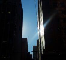 Glimpse (urban dark sunlight) Sticker