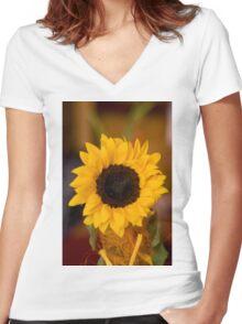 Sunflower VIII 2009 Women's Fitted V-Neck T-Shirt