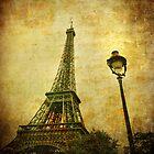 Vintage image of Eiffel tower by javarman