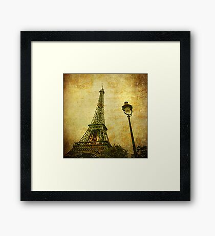 Vintage image of Eiffel tower Framed Print