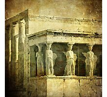 Vintage image of Caryatids, Acropolis, Athens, Greece Photographic Print
