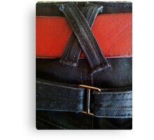 Fancy jeans, red belt Canvas Print
