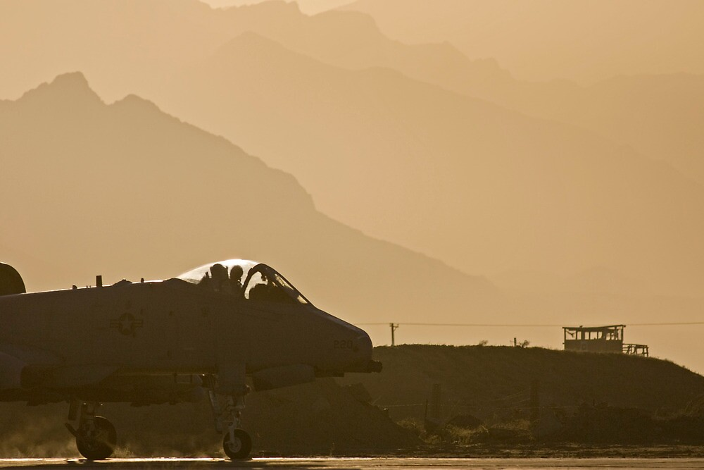 Sunrise on an A-10 by Tim Grams
