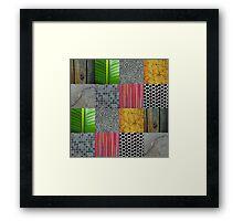 Texture Blocks Framed Print