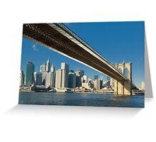 Brooklyn bridge, New York Greeting Card