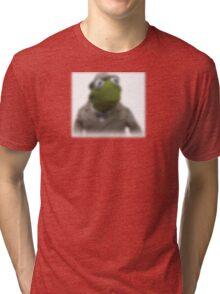 Blurred kermit reporter Tri-blend T-Shirt