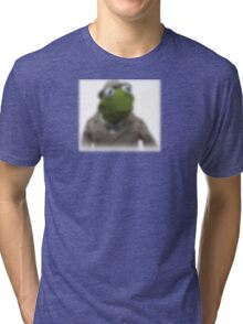 Blurred kermit reporter Tri-blend T-Shirt