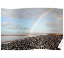 Rainbow Over Northam Burrows. Poster