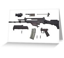 Automatic weapon G36 Greeting Card