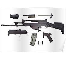 Automatic weapon G36 Poster