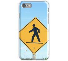 Crosswalk Sign iPhone Case/Skin