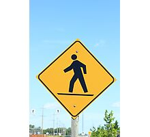 Crosswalk Sign Photographic Print