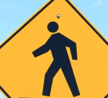 Crosswalk Sign Sticker