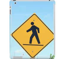 Crosswalk Sign iPad Case/Skin