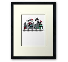 Mecha mario Framed Print