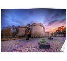Nottingham Castle Sunset Poster