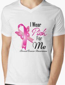 i wear pink for me breast cancer Mens V-Neck T-Shirt