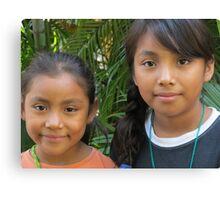 Two young Mexican beauties - La Bellaza de dos Niñas Mexicanas, Puerto Vallarta, Mexico Canvas Print